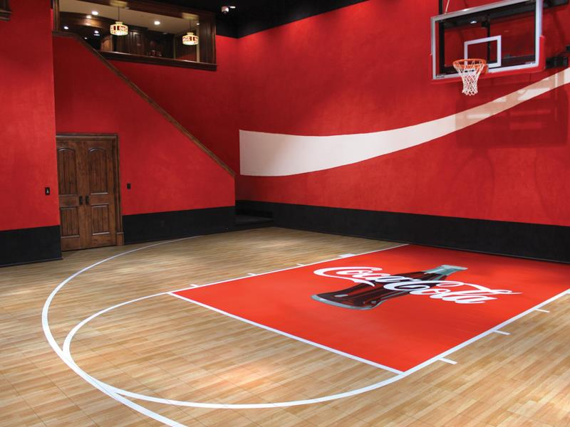 Indoor home gyms ma sport court new england for Indoor basketball court installation