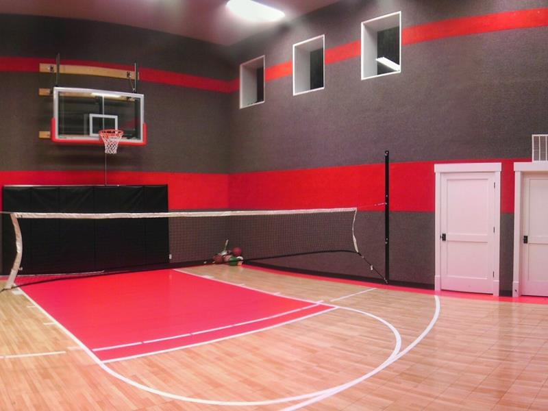 Indoor Home Gyms Ma Sport Court New England